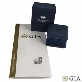 18k Yellow Gold Round Brilliant Cut Diamond Ring 1.05ct H/VS1